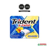 CHICLE ADAMS SWET MINT TRIDENT TWIST 1 PZ